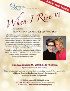 Opera Arts - When I Rise 2018 with Ronnie Sanlo and Kelly Watson